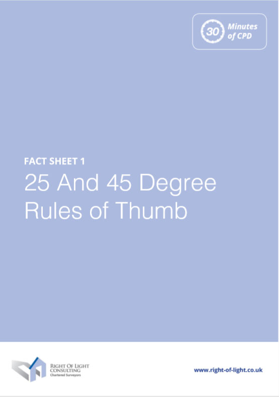 25 and 45 degree rules of thumb