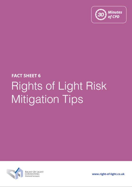 Rights of Light Risk Mitigation Tips
